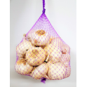 extruded netting for packaging garlic in strings