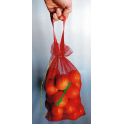 Malha bolsas com alças para laranjas