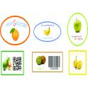 Etiquetas para frutas y hortalizas